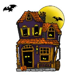 clipart of silhouette of a haunted house 383500 royalty free rh pinterest com clipart haunted house images clipart haunted halloween houses