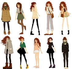 What I Wore VII by brusierkee. on What I Wore VII by brusierkee. Character Design Cartoon, Character Design References, Character Drawing, Character Design Inspiration, Illustration Vector, Illustration Mode, Character Illustration, Monster Draw, Drawing Clothes