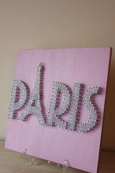 Eiffel Tower Paris String Art Sparkle and Shine por mintiwall More