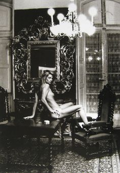 Charlotte Rampling at the Hotel Nord Pinus II, Arles by Helmut Newton.