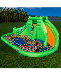 """Blast Zone """"Crocodile Isle"""" Inflatable Water Park is on Rue. Shop it now."""