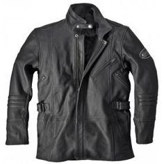Veste cuir moto vintage Difi Vermont noire