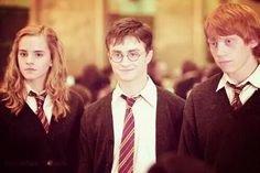Hermiona, Ron and Harry