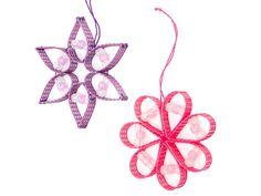 Glow-in-the-Dark Beaded Flower Ornament