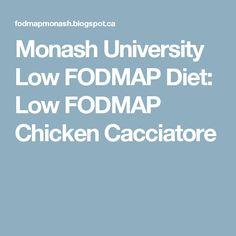 Monash University Low FODMAP Diet: Low FODMAP Chicken Cacciatore
