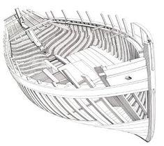 Quinze marins sur le bahut du mort...: construction modelisme naval Wooden Model Boats, Wooden Boat Building, Boat Building Plans, Boat Plans, Wooden Boats, Model Sailing Ships, Model Ships, Viking Longship, Kayaks