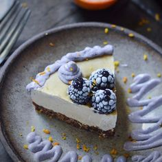 """Blood Orange Cheesecake topped with Blackberries, (recipe below) this cheesecake features Reishi by @rootandbones. Reishi is known as the """"Mushroom of Immortality"""". It's use has been documented for thousands of years. Reishi supports immunity radiant health; longevity and harmonizes mind, body and spirit.  Check @rootandbones website. https://rootandbones.com  Filling  2 cups of soaked cashews (not cold) 1/4 of a cup of blood orange juice  1/3 of a cup of melted coconut oil 3 tbsp of maple…"""