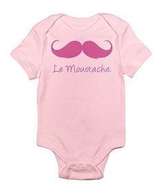 Take a look at this Petal Pink 'Le Mustache' Bodysuit - Infant by CafePress on #zulily today!
