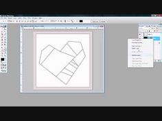Paper Piecing:  Drawing a Patchy Heart (video tutorial showing how to design paper pieced patterns in Photoshop)