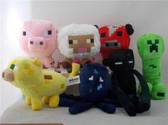 New Jazwares Minecraft Enderman Creeper pig Animal Plush Soft Toy Doll Set Of 7 #JazwaresGame