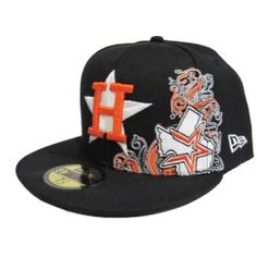 7f1d7771950 Houston Astros New Era 59fifty Fitted Black Hat-HA018 Astros Hat