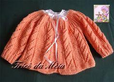 CASAQUINHO DE DANIEL    http://tricodameia.blogspot.com/ Montar 148 pontos na agulha nº 3. Fazer 4 cOrdões em tricô.  CORPO Começar o ponto ...