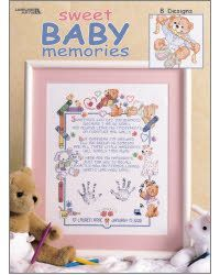 Sweet Baby Memories: A Cross Stitch Chart by Leisure Arts Cross Stitch Books, Cross Stitch Kits, Cross Stitch Patterns, One Month Baby, Cross Stitch Tutorial, Birth Records, Birth Announcement Boy, Baby Memories, Baby Feet