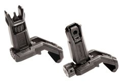 the MBUS Pro Offset Sights are part of an an effective aiming system to supplement magnified optics on M1913 Picatinny mounting surfaces. In the event of a damaged or nonfunctional primary optic, or a close target, rotating the rifle 45 degrees provides the shooter with a fully-featured iron sighting solution.