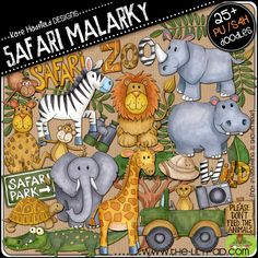 Safari graphic pack by Kate Hadfield, $4.99