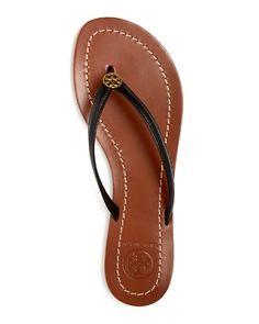 $Tory Burch Terra Leather Flip-Flops - Bloomingdale's