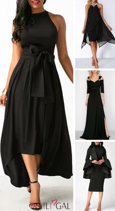 Super Ideas Party Look Fashion Classy Black Dress Outfits, Black Party Dresses, Gala Dresses, Club Party Dresses, Evening Dresses, Dress Black, Dress Party, Dinner Dresses, Stylish Dresses