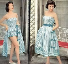 1950s beach cover-up