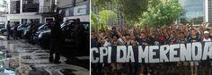 Um dia depois de a torcida organizada do Corinthians protestar em frente à Assembleia Legislativa de São Paulo contra o esquema de fraude na merenda no governo Geraldo Alckmin (PSDB), a Polícia Civil e o Batalhão de Choque fazem buscas na sede nesta sexta-feira; ainda não se sabe o motivo da operação