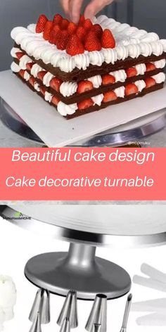 Cake Decorating Frosting, Cake Decorating Designs, Cake Decorating Videos, Cake Decorating Techniques, Cake Designs, Cake Recipes Without Oven, Cake Recipes From Scratch, Beautiful Cakes, Amazing Cakes