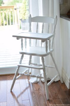 A Burst of Beautiful: Painted Vintage Highchair