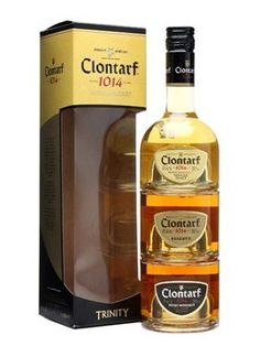 Clontarf Trinity stackable quarter-sized bottles > #whisky >