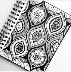 #papercraft #zentangle #doodle.  Don't forget you can fill one pattern with another - experiment with making patterns BIG