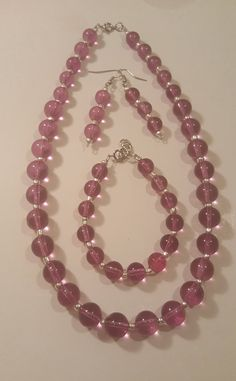 Check out this item in my Etsy shop https://www.etsy.com/listing/472848511/bead-jewelry-set-bubble-necklace-purple