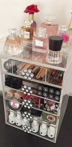 Acrylic Makeup Organizer 5 Drawers The Beauty Cube (How To Make Makeup Storage)