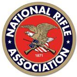 "NRA Guns rifles pistol car bumper sticker 4"" x 4"""