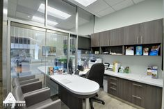 Natural and Modern Consultation Room. Dental Office Design by Arminco Inc.