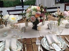 Rustic Tuscan-style table setting