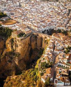 Malaga City, Ronda Spain, Malaga Spain, Andalusia Spain, Spain Travel, Travel Europe, Aerial View, Vacation Trips, Foto E Video