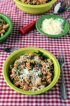Power Pasta - whole wheat pasta with kale, garlic, white beans. This pasta lives up to it's name with the protein it packs