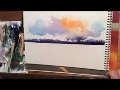 Colorful Sky Watercolor Instruction by KEN HOBSON - YouTube