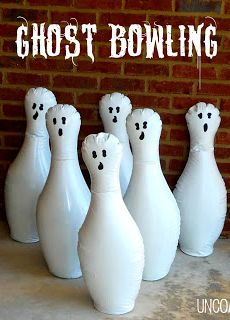 Ghost Bowling... a fun Halloween Game for Parties