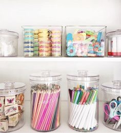 Jan 2020 - The best home organization ideas for every room in your house. Your guide to create stylish organized spaces. Plus, where to get the best storage solutions. Organisation Ikea, Craft Closet Organization, Organization Ideas For Bedrooms, Playroom Storage, Organize Craft Closet, Bedroom Ideas, Stationary Organization, Baby Storage, Organization Station