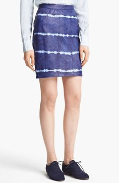 Boy. by Band of Outsiders Tie Dye Leather Skirt available at #Nordstrom