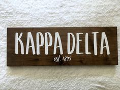 Kappa Delta Canvas, Kappa Delta Crafts, Kappa Delta Sorority, Sorority Canvas, Sorority Paddles, Sorority Crafts, Sorority Recruitment, Delta Zeta, Gamma Phi