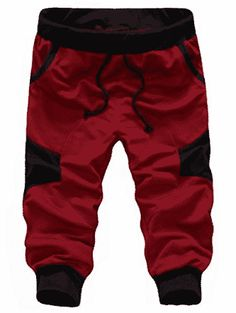 SoEnvy Men's Casual Harem Training Jogger Sport Short Baggy Pants X-Large Wine Red Material: cotton, 65 polyester Brand New with Tag High quality materials and stretchable,comfortable to wear Hand wash, Dry clean Fashionable design Best Joggers, Jogger Sweatpants, Jogging, Cargo Pants Men, Mens Activewear, Sport Shorts, Men Shorts, Casual Shorts, Mens Fitness