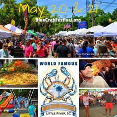 Bring your family & friends to the World Famous BlueCrab Festival and enjoy fresh local #seafood or your favorite #festival food. Enjoy #scenic views live entertainment and shop for a unique #souvenir or gift from a crafter.  #BikersWelcome #FamilyFun #LRBlueCrab #LittleRiverSC #GrandStrand #DiscoverSC #TravelTuesday #TripIdeas #BeachMusic #bluecrabfestival2017 #bluecrabfest #crabfest