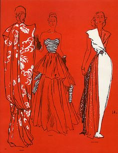 Jc. Haramboure 1947 Worth, Paquin, Jean Patou, Evening Gown by Jc. Haramboure | Hprints.com