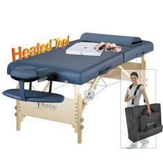 Master Massage Catalina LX Therma Top Portable Table, Royal Blue