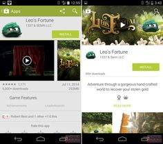 Android L Material Design- Play Store Google Play, Android L, Material Design, Store, App, Adventure, World, News, New Looks