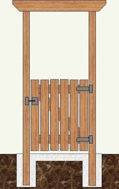 Wood arbor with gate garden fence Wooden Garden Gate, Garden Gates And Fencing, Wooden Gates, Wooden Gate Designs, Fence Gates, Garden Arbor, Arbor Gate, Wood Arbor, Deck With Pergola