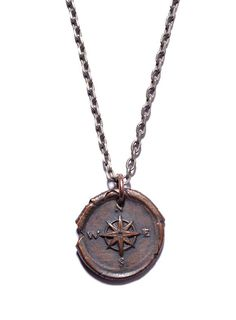 compass necklace for men