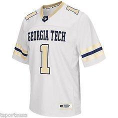 "GA Tech Yellow Jackets Football Jersey NCAA ""Spike It"" Football Jersey"