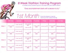TIU Triathlon Training!!!! Calendar  Workout