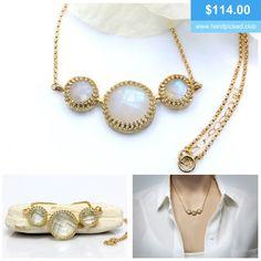 Very delicate. #moonstone #jewelry #gemstone #handmade #necklace #jewellery #handpickedclub @handpicked_club