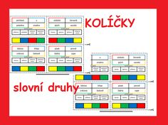 Kartičky na procvičování slovních druhů English Vocabulary, Periodic Table, Teaching, School, Pictures, Literatura, Photos, Periodic Table Chart, Photo Illustration
